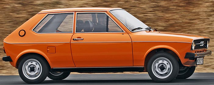 1974 Audi 50 orange side