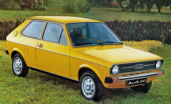 1974 Audi 50 yellow front