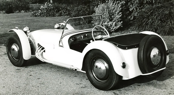1957 Lotus Seven Series 1 bw rear