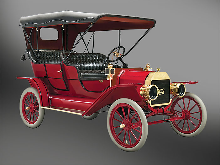 1908 Ford Model T Touring red